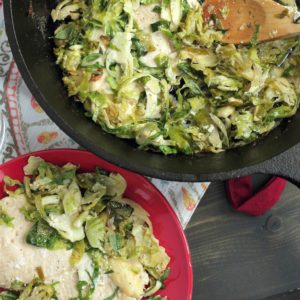 Herby 30 Minute Chicken and Brussels Sprouts Bake