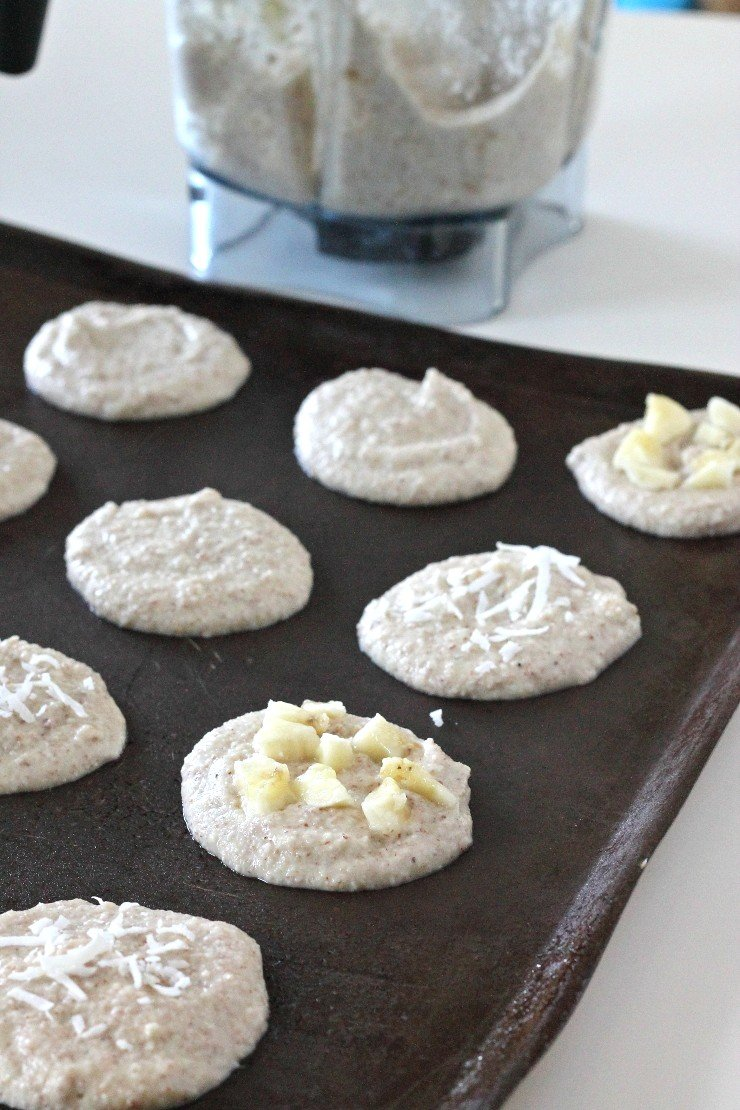 Simple blender cookies bursting with banana flavor! They are dairy free, gluten free, and paleo!