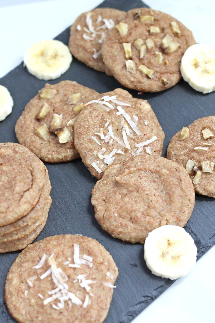 If you love bananas you will go bananas over these paleo banana cream pie cookies. An incredibly soft cookie that is paleo and naturally sweetened