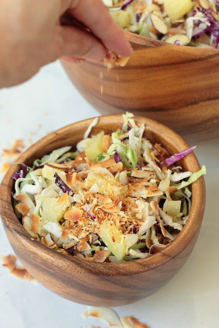 Coleslaw you could eat for dessert! And it's squeaky clean, mayo-free, and paleo!