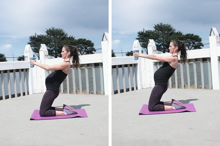 Quad and Shoulder Scorcher - Static Hold Arm Extensions