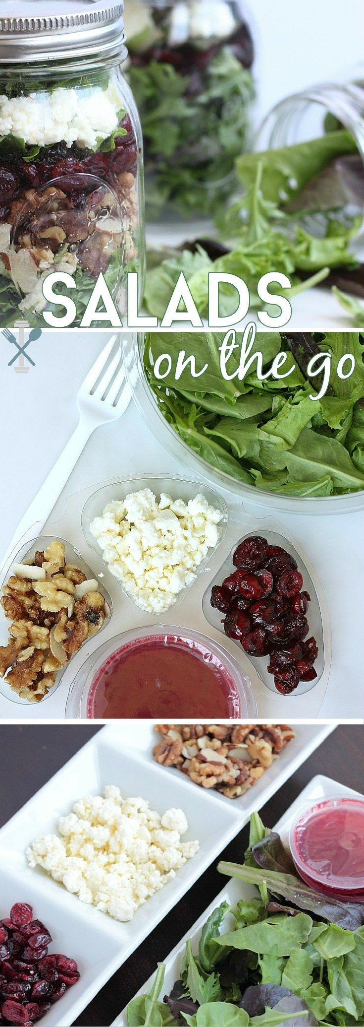 #ad Portable, pre-packaged salads are a great way to eat healthy on the go. Here are some creative ways to take your salads to the next level of convenience!