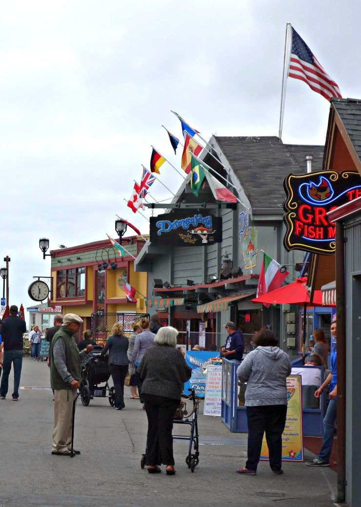Fishermans Wharf is a wonderful place to see in Monterey. Lots of great restaurants and shops!