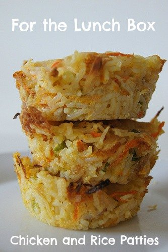 Chicken and Rice Patties from Planning with Kids