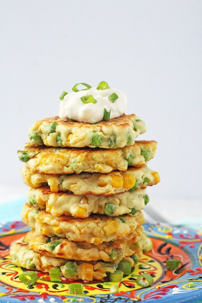 Pea and Sweet Corn Fritters from My Fussy Eater