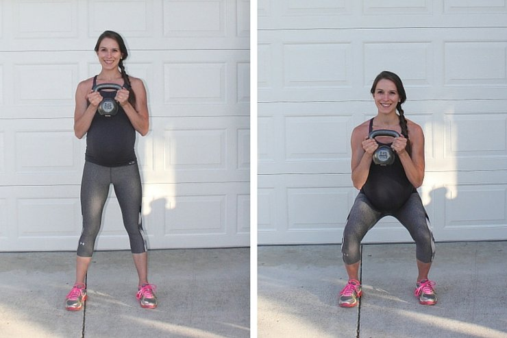 Beginner Kettle Bell Workout - Kettle Squats