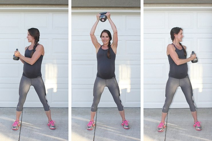 Beginner Kettle Bell Workout - Kettle Bell Overhead Lifts