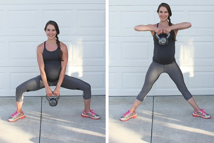 Beginner Kettle Bell Workout - Sumo Squat Lifts