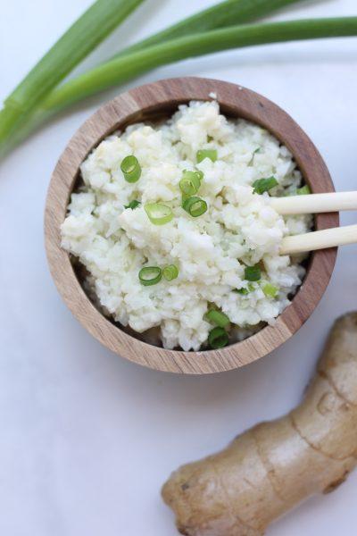 Coconut Ginger Cauliflower Rice