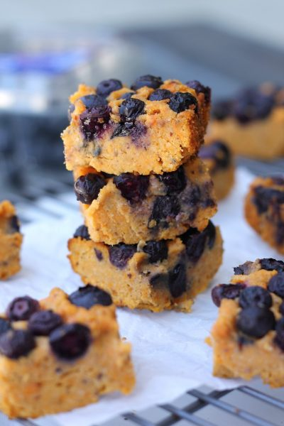 Paleo Sweet Potato Blueberry Breakfast Bars