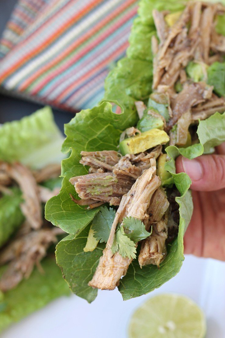 Low-carb, whole30 compliant, paleo and EASY! This recipe for slow cooker pork carnitas is a serious winner.