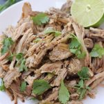 The easiest way to make pork carnitas that are flavorful, tender, and juicy. Whole30 compliant too! These slow cooker pork carnitas are healthy, yummy, and make great leftovers!