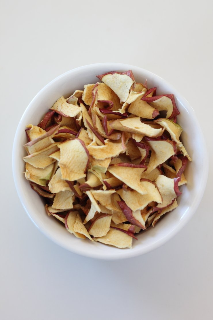 Dried apple chips for healthy apple pie granola