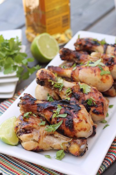 Honey Tequila Lime Chicken Drummies