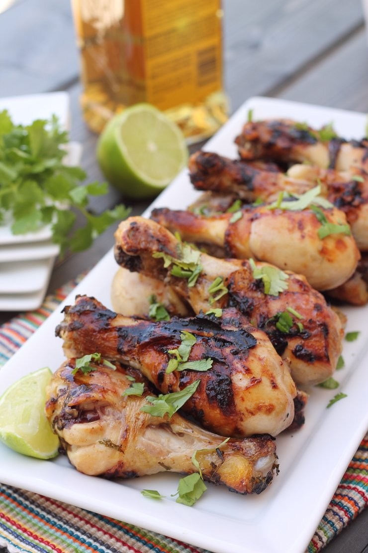 These honey tequila lime chicken dummies are THE BOMB! This simple marinade has huge flavor - making these dummies the tastiest and most tender chicken ever.