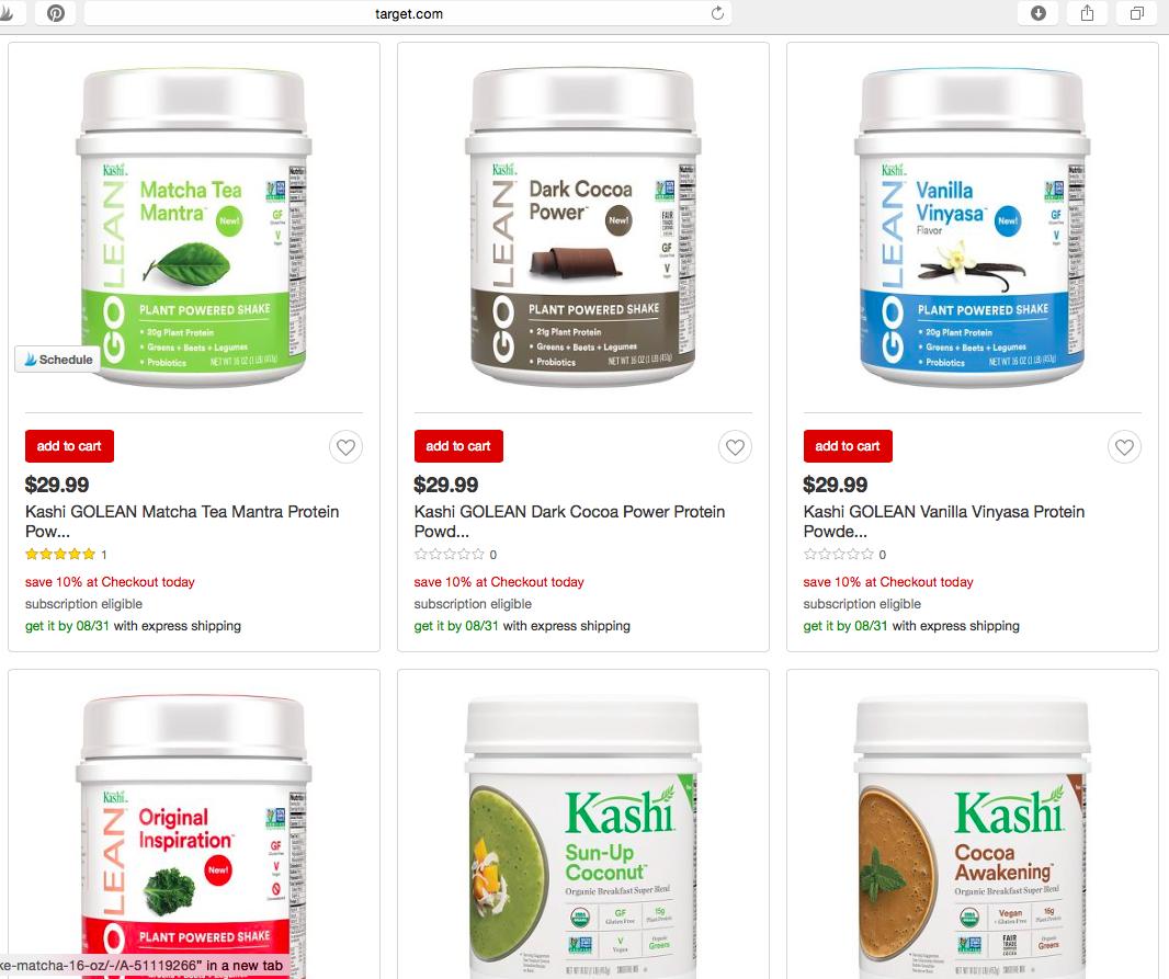 Kashi GoLean™ Protein Powder - found at Target.com