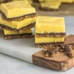 no bake chocolate mango bars