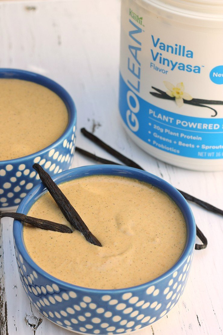 This vegan protein pudding has a rich, vanilla cake batter flavor. So creamy and delicious - made with the best sources of plant-based protein!