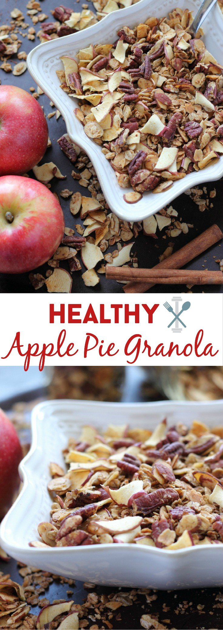 Refined sugar free, made with simple ingredients with FULL apple flavor. This granola is an amazing breakfast or snack!