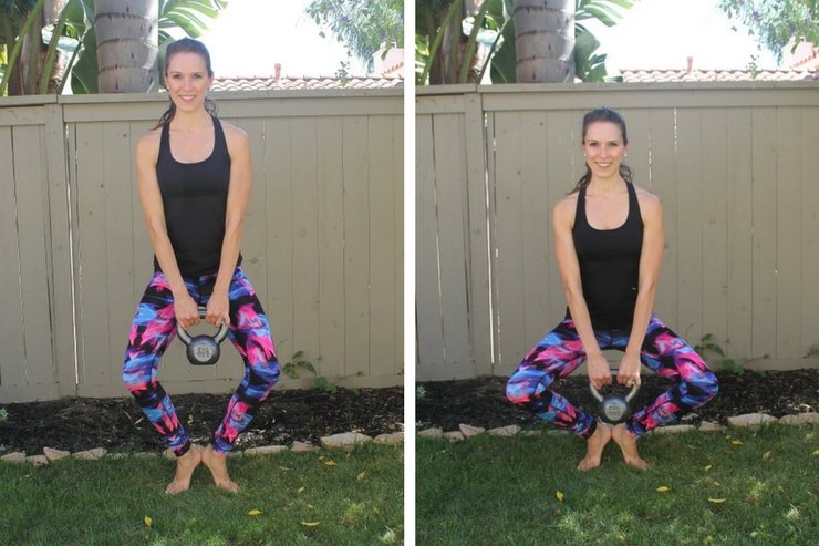 Kettlebell Barre Combo Workout - second position pulses