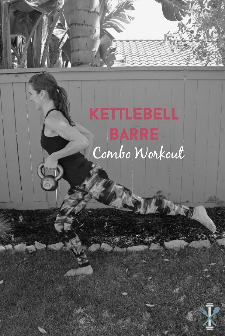Love barre? And strength training? You have to try this kettlebell barre combo workout. It's awesome for a total body circuit