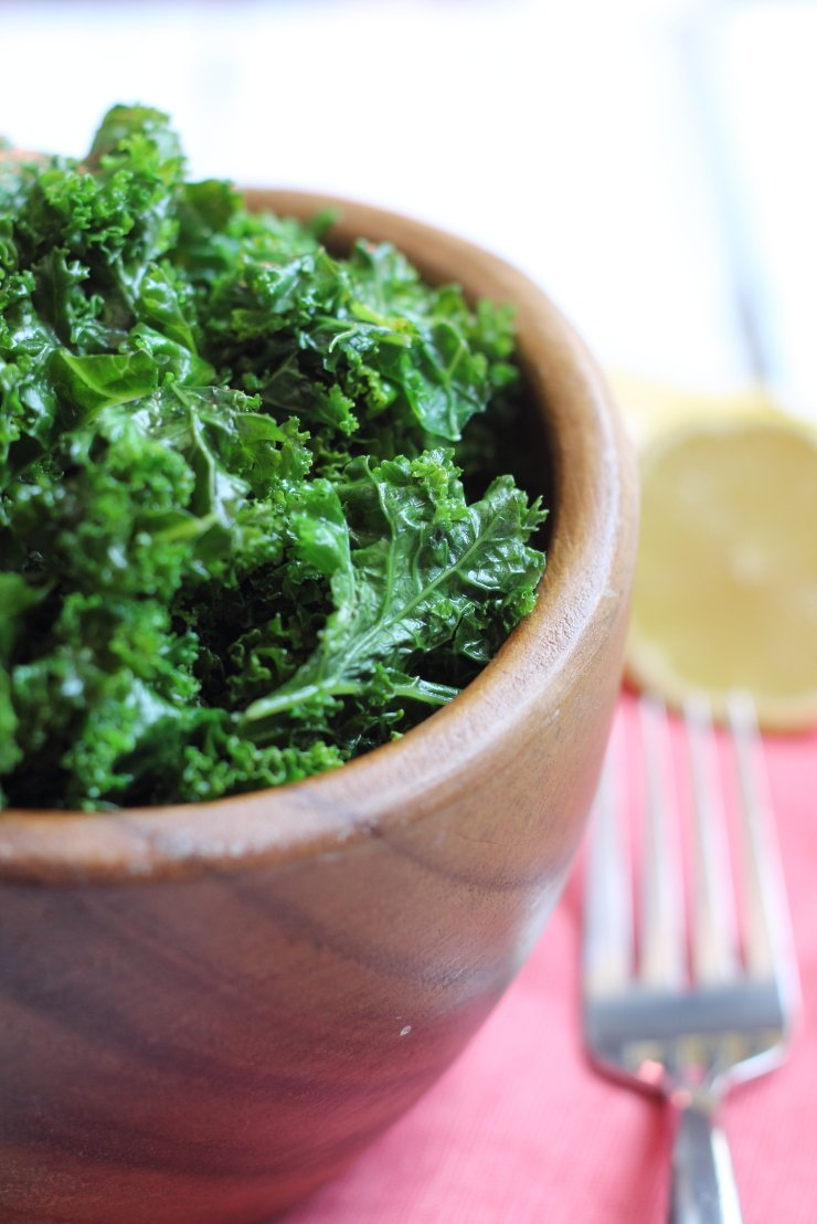 Sautéed kale with ghee, fresh lemon juice, and garlic is the best side dish! Paleo and whole30 compliant.