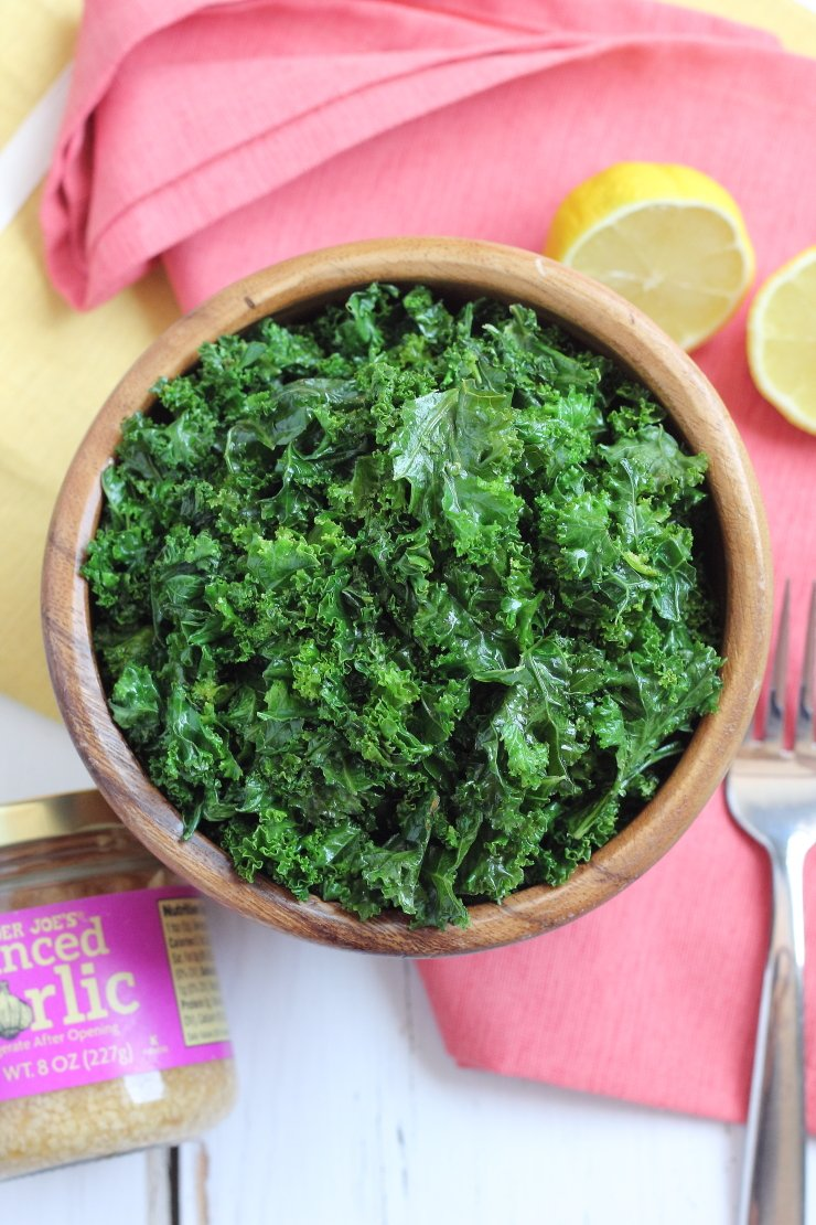 THIS is the kale recipe that will convert any haters. Lemon butter kale with garlic is an awesome paleo and Whole30 compliant side dish!