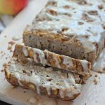 A paleo spin on a fall-inspired bread - this paleo apple bread is moist and full of apple flavor, topped with a decadent 'caramel' maple glaze. A must make! Gluten free and dairy free