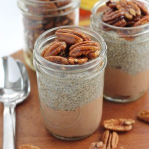 Chocolate Chia Pecan Pie Parfaits (with collagen peptides)