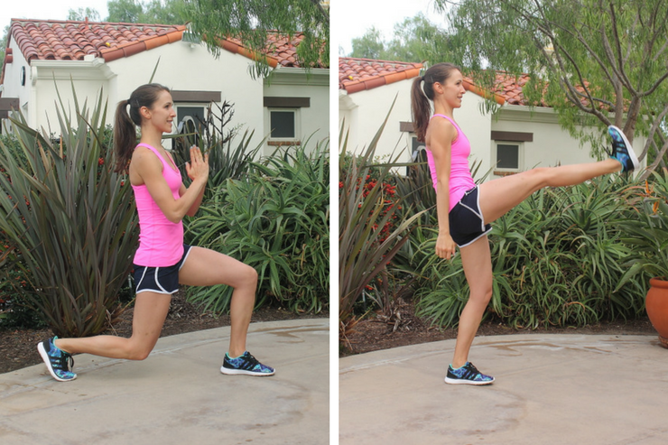 Lower Body Cardio Tabata - Back Lunge to Forward Kick