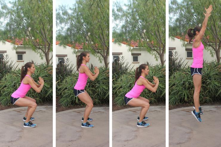 Lower Body Cardio Tabata - Squat Pulse Jumps