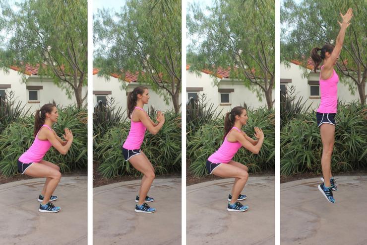 Lower Body Cardio Tabata - Squat Pulse Jumps