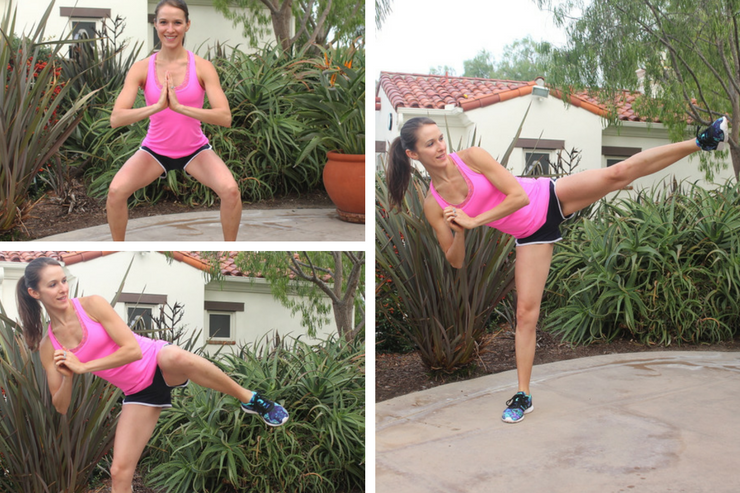 Lower Body Cardio Tabata - Squat Side Kicks