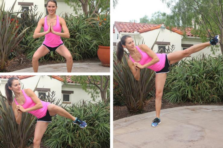 Lower Body Cardio Tabata - Squat Side Kicks