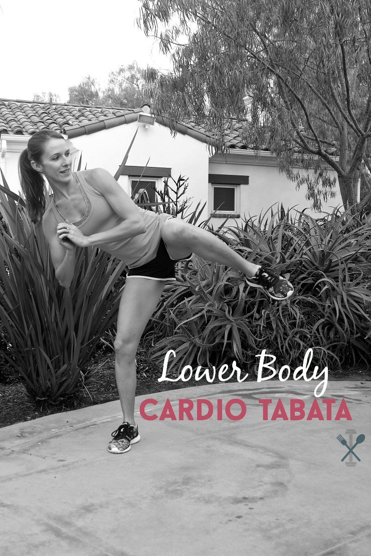 This lower body cardio tabata style workout is a serious calorie torcher! You'll be worked to the max in just 20 minutes