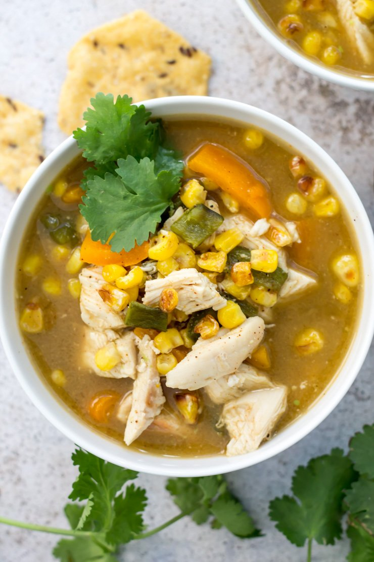 This skinny fiesta chicken soup is perfect for your new years resolution! With a paleo/whole30 option