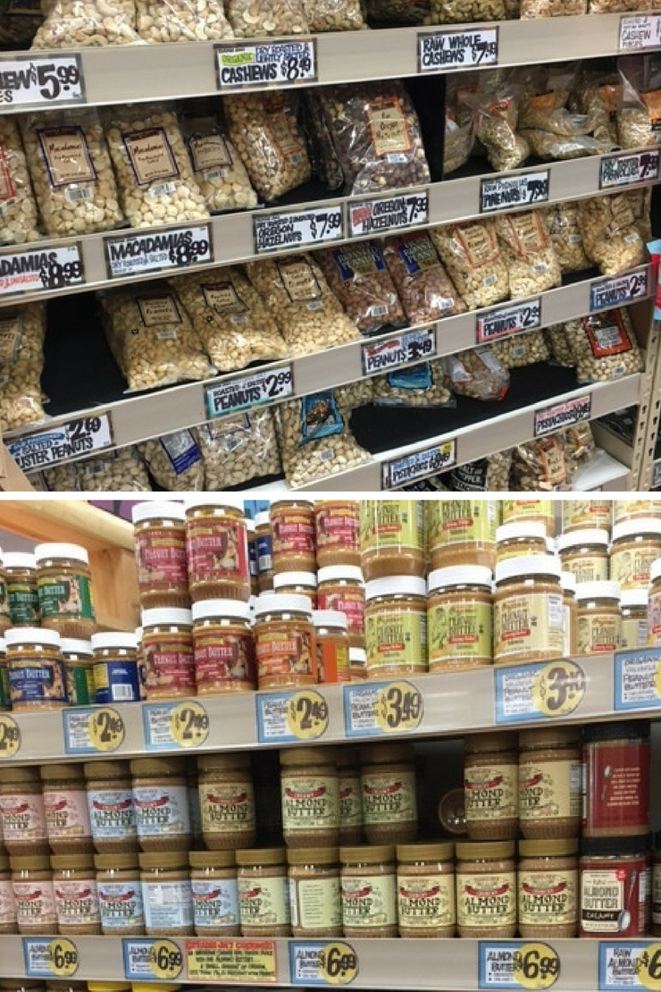 The ultimate Trader Joe's Whole30 Shopping List - nuts & nut butters