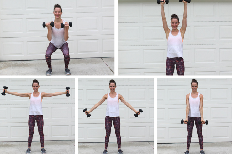 A total body workout you can do in your garage! Bicep Curl Around the Worlds