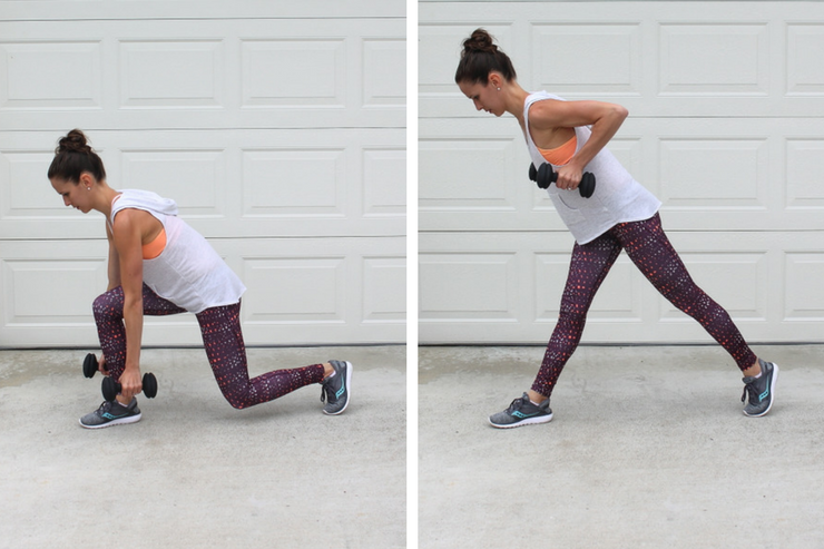 A total body workout you can do in your garage! Lunge Rows