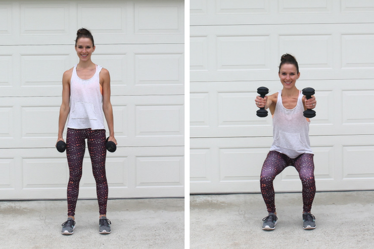 A total body workout you can do in your garage! Squat Shoulder Raise