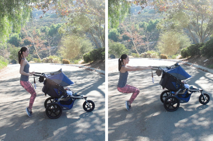 This moving barre stroller workout is THE barre-inspired stroller circuit to do! Thigh Blasters