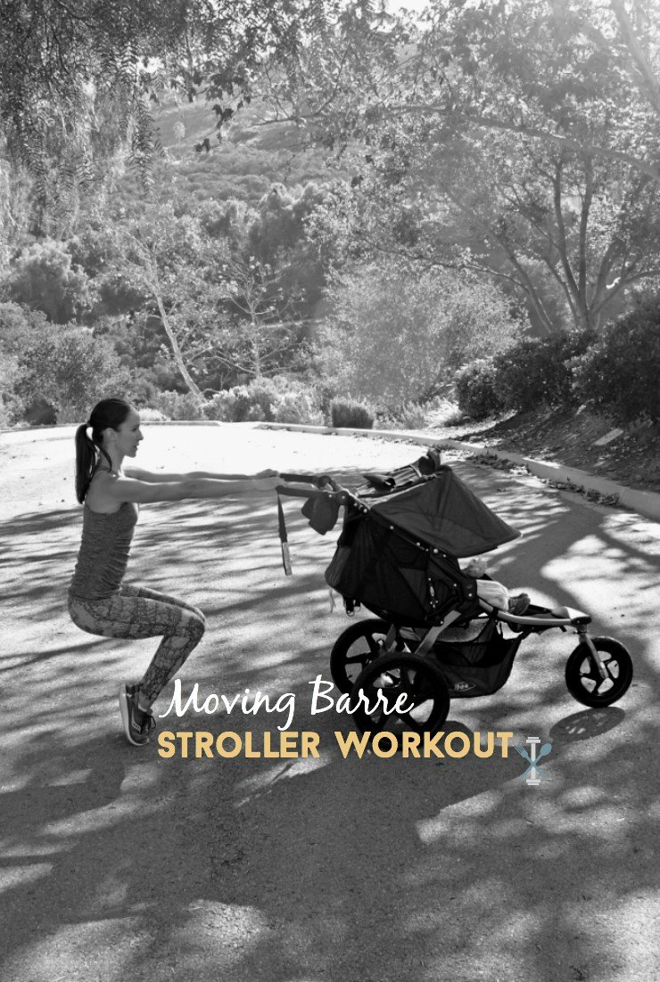 This moving barre stroller workout is THE barre-inspired stroller circuit to do! Tone you buns and thighs while moving the entire time.