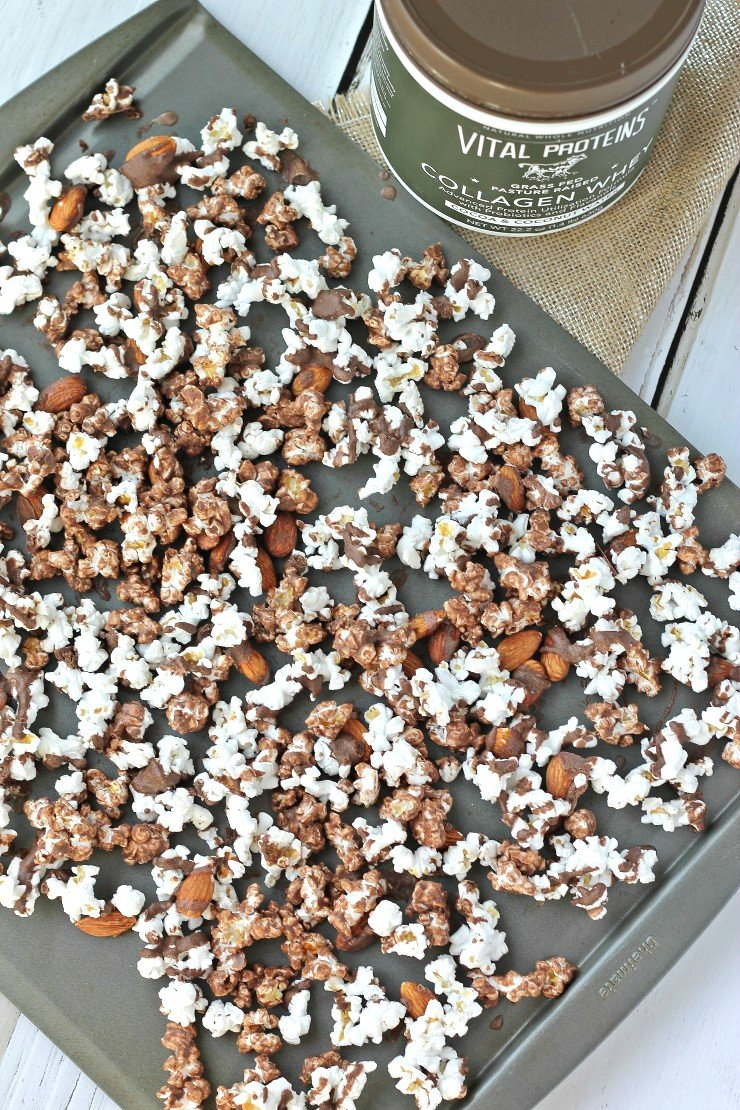 Moose munch that's packed with protein! This healthy snack will satisfy all your chocolate cravings and fuel your body the right way!