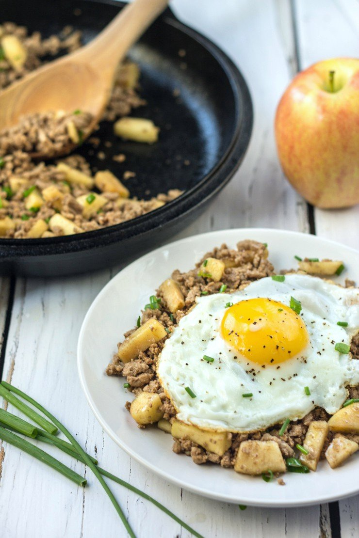 Let that runny yolk soak up all the flavors of balsamic, cardamom, and apples in this squeaky clean, whole30 compliant breakfast dish!