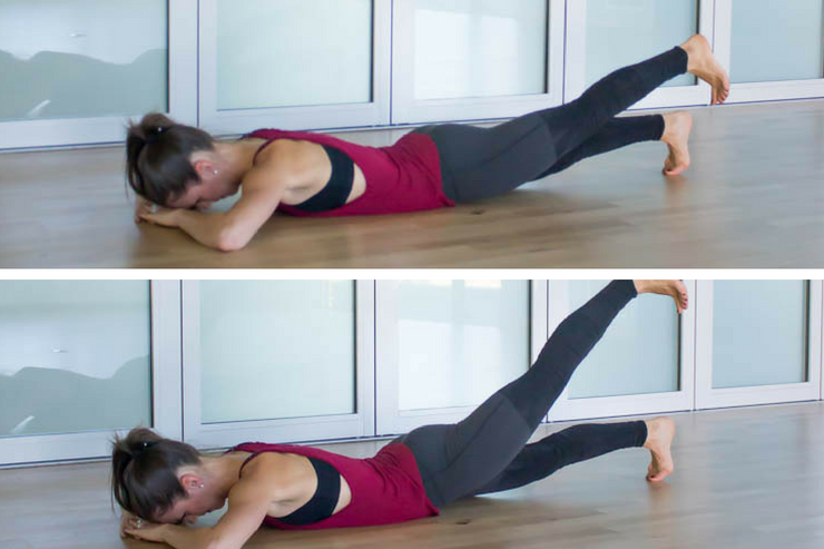 Easy Booty Workout - tone and lift your booty with lying glute raises