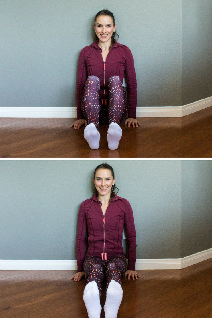 Healing Diastasis Recti Part 2: Sitting Heel Sliders