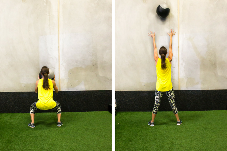 Medicine ball cardio workout - wall toss