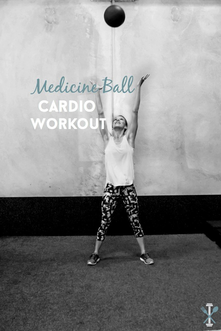 Using a medicine ball to incorporate strength training into a heart-rate blasting cardio session is the perfect way to burn calories FAST! Try this medicine ball cardio workout at the gym and vary up the weight to keep your muscles guessing!