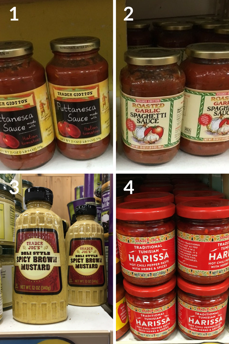 Sauces and condiments that are Whole30 compliant at Trader Joes