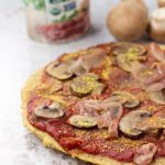 A plantain pizza crust with all Whole30 compliant ingredients.